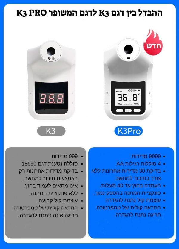 מד חום K3 Pro - ציוד רפואי נקר מדיק